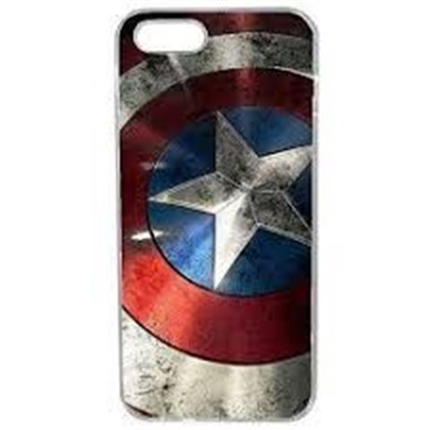 Etui Housse Coque originale Marvel Captain America iPhone 4 - 4S