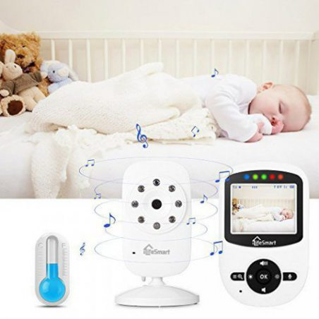 """iLifeSmart 2.4""""LCD Ecoute Bébé Babyphone Caméra sans Fil 2.4GHz Vidéo Numérique avec Vision Nocturne 2X Zoom"""