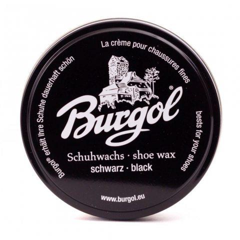 Burgol Cire de chaussure, chaussures wax - nouvelle recette - Noir, Taille unique