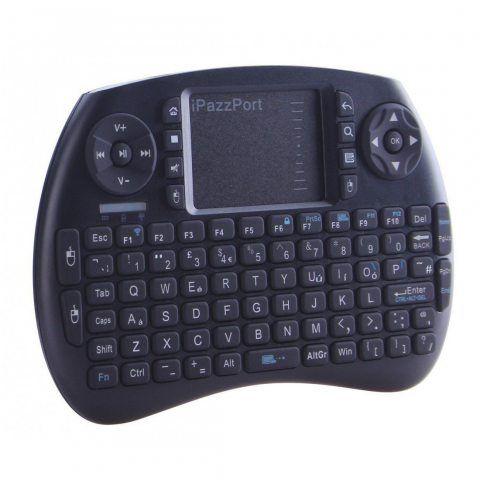 Mini Clavier Sans Fil, iPazzPort 2.4 GHz Mini Clavier avec Touchpad , Batterie Rechargeable Lithium Clavier Pour Smart TV, mi