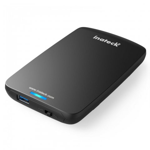 Inateck USB 3.0 Boîtier externe pour disque dur Étui 9,5mm 7mm SSD 2,5 SATA-I II III HDD avec USB3.0 câble, Compatible avec