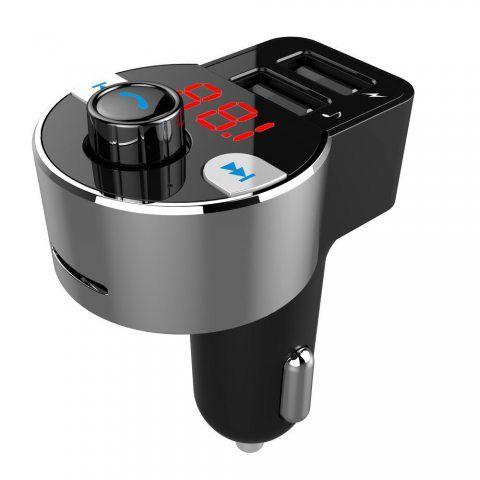 Transmetteur FM Bluetooth, Modulateur FM sans Fil Kit de Voiture d'appel Mains Libres, Fonction A2DP, Système stéréo Hi-FI, C