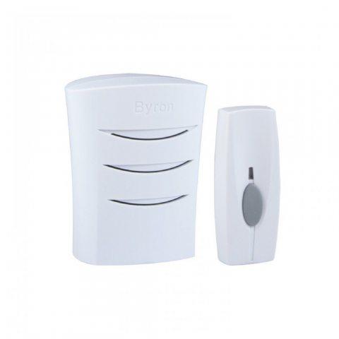 Byron BYR102 Kit Carillon blanc enfichable + Sonnette