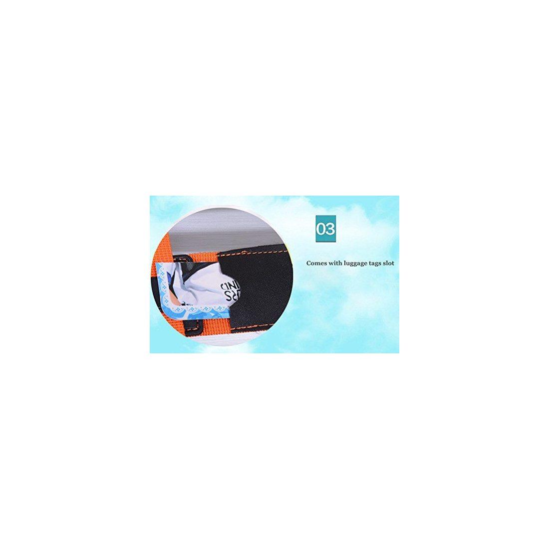 CSTOM Croix Sangles Bagages Sangle de Voyage Valise Bagage Clipsable - Vert