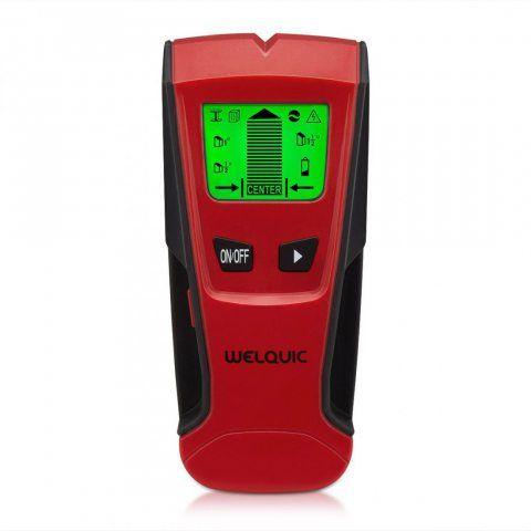WELQUIC Détecteur de Matériaux électriques Stud Finder Scanner Mural 3 en 1 avec écran LCD,Détecteur de Construction Digital