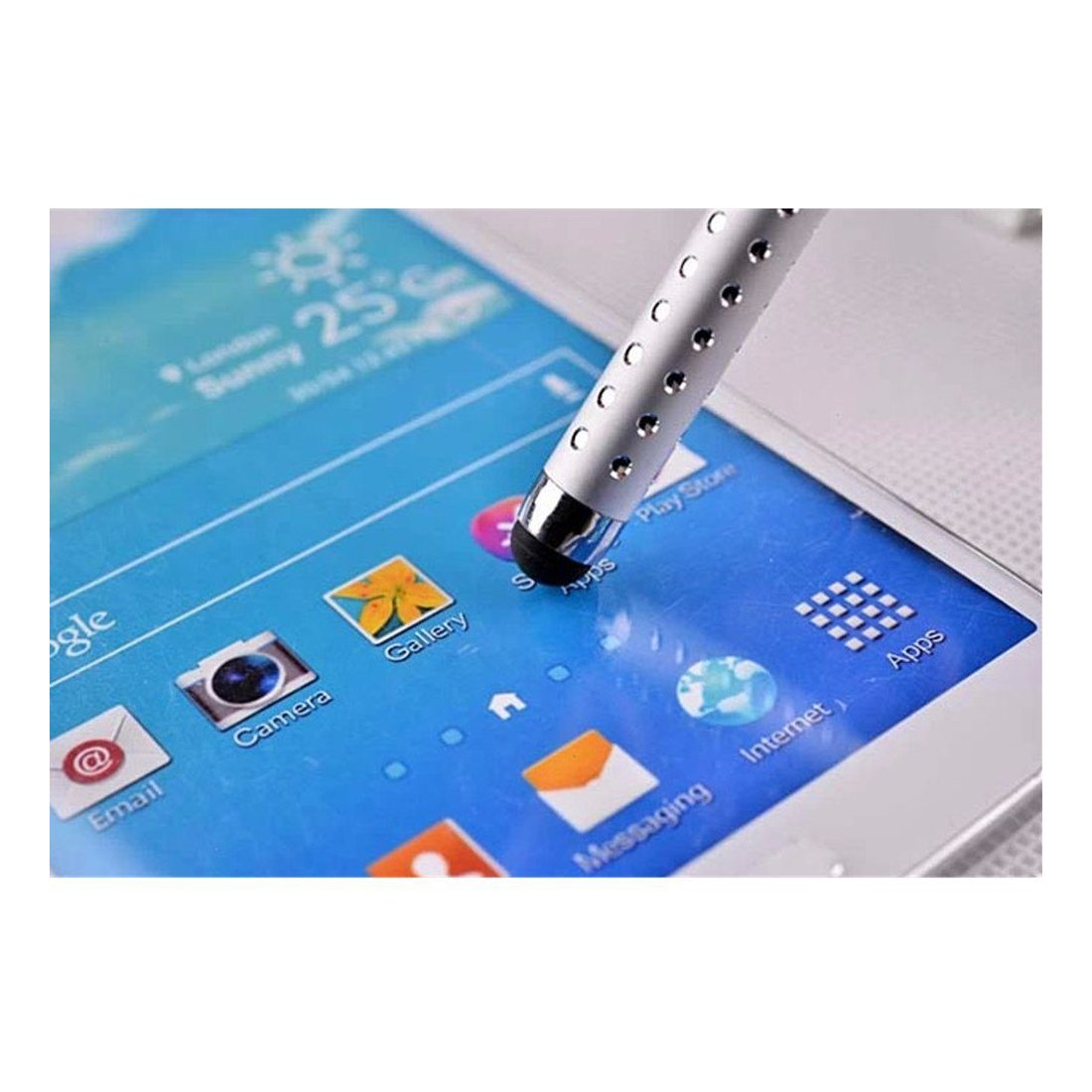 TRIXES 10 X Crayons Stylus Crystal rétractables pour iPhone iPad Tablette Samsung