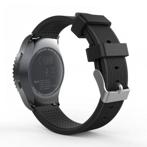 MoKo Gear S2 Classic Smartwatch Bracelet en Silicone souple pour Samsung Galaxy Gear S2 Classic SM-R732 / Moto 360 2e (Hommes