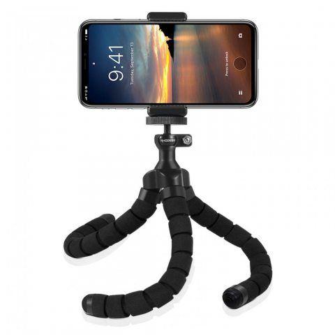 Rhodesy RT-01 Trépied Portable Style Octopus pour iPhone, Tout Smartphone, Camera avec Clip Universel