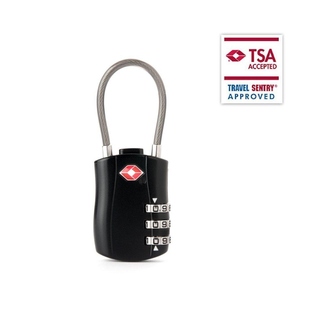 2 Cadenas à Combinaison FOXAS TSA Cadenas à codes a 3 chiffres serrure de sécurité en Voyage pour des bagages casier et valis