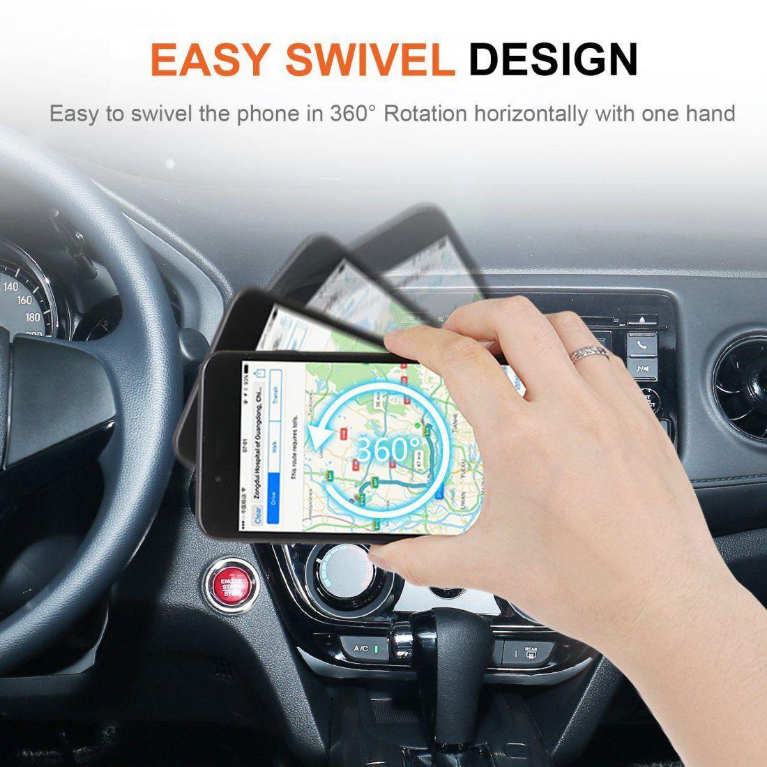 [Lot de 2] iVoler Extra Mini Support Téléphone Voiture Magnétique à Grille d'Aération en Aluminium avec 4 Plaques Métalliques