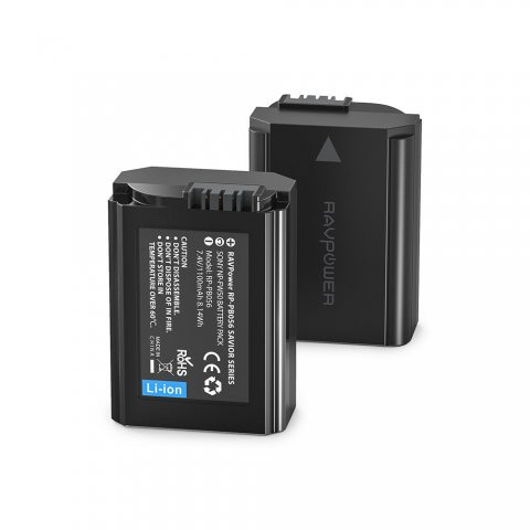 Sony NP-FW50 Batterie de Rechange 1100mAh Lot de 2 RAVPower Batteries de Remplacement pour Appareil Photos Compatible à l'Ori