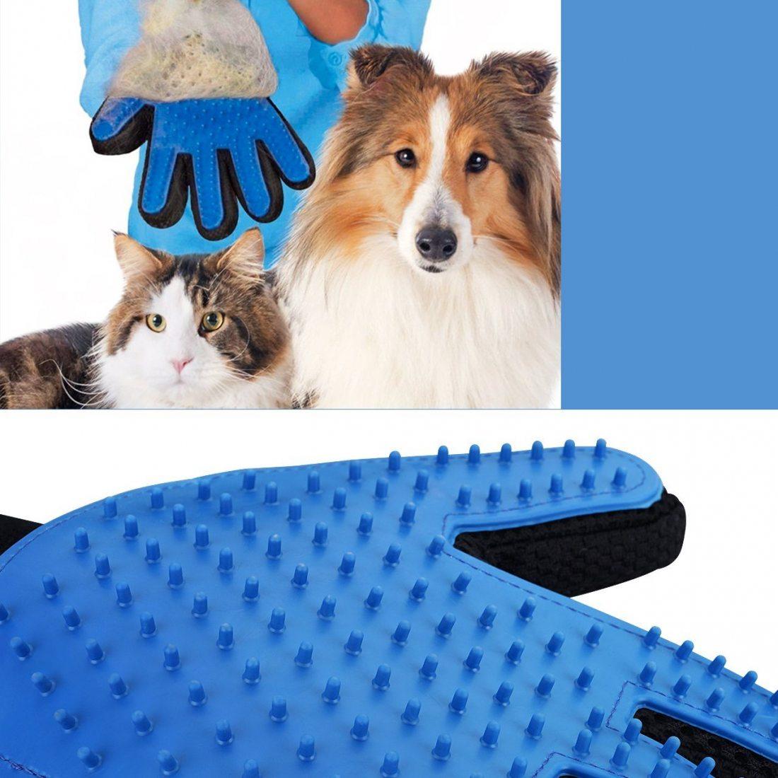 OMorc Gant de Toilettage Massage Chiens/Chats Brosse de Nettoyage pour Animaux, Peigne de Massage en Silicone pour Chien et C