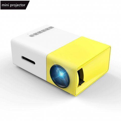 Vidéoprojecteur, Meer Mini Pico Portable LED LCD Projecteur Théâtre avec Entrée USB/SD/AV/HDMI pour Ordinateur, Ordinateurs P