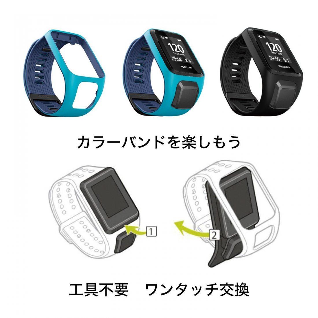 TomTom - Bracelet pour Montre TomTom Runner 3, Spark 3, Runner 2 & Spark Taille Large Gris (ref. 9UR0.000.00)