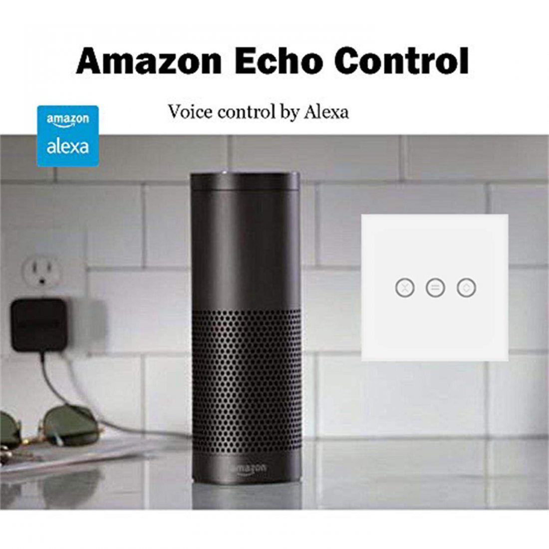 Jinvoo Smart UK Wifi Interrupteur tactile, télécommande sans fil Rideau de fenêtre commutateur, contrôleur Interrupteur Volet
