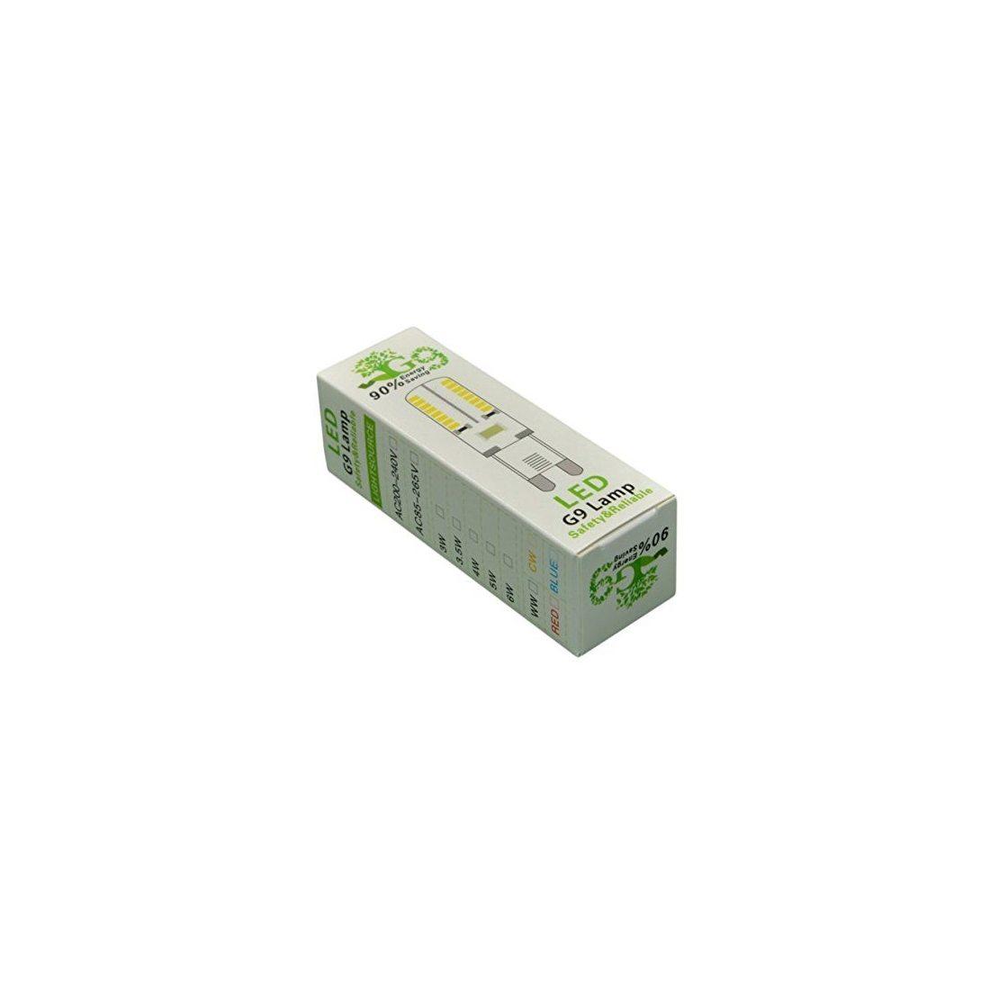 HHD® Lot de 10 Ampoule G9 LED 3.5W Ampoule Lampe 64 SMD 3014 LED Blanc Froid 300LM Super Lumineux LED Ampoule Spot LED Rempla