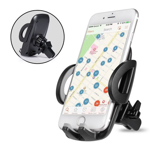 Support Telephone Voiture Ventilation - Auto Universel à Angle Réglable pour iPhone 7/6s/6/SE/5/5s,Samsung Galaxy Galaxy S8/S