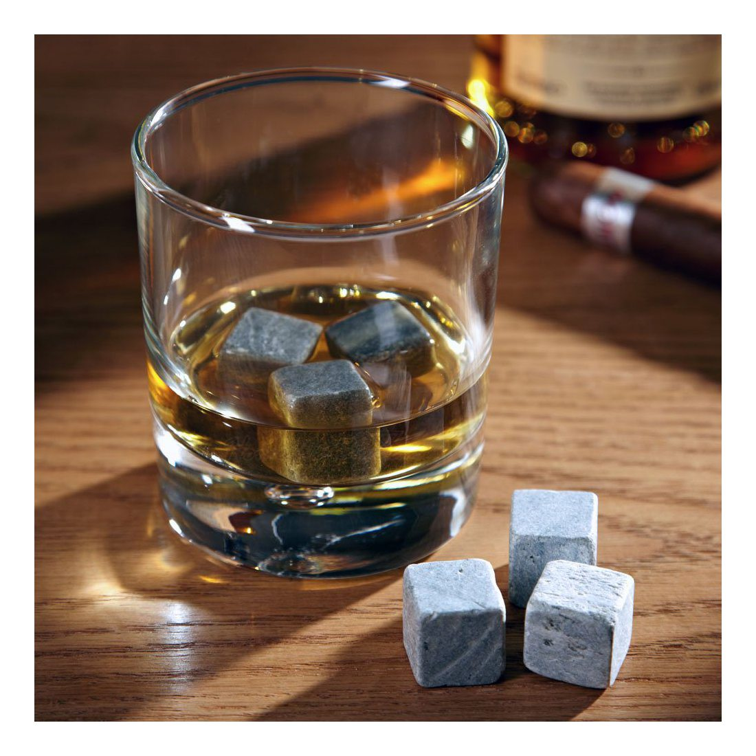 Amerigo Pierre a Whisky de Haute Qualité de Édulcoler Votre Whisky? Plus jamais! Ensemble de Cadeaux Glacon Reutilisable - Wh