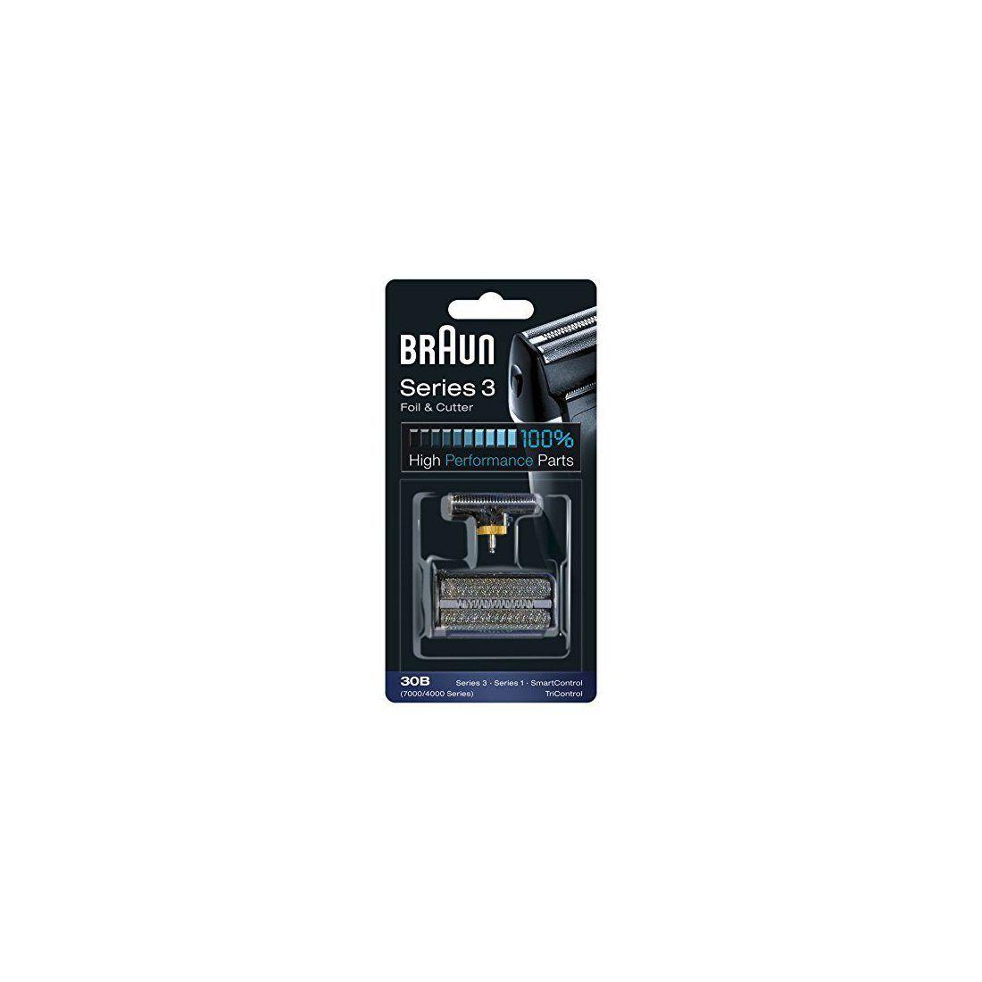 Braun Pièce de Rechange 30B Noire pour Rasoir Compatible avec les Rasoirs Series 3