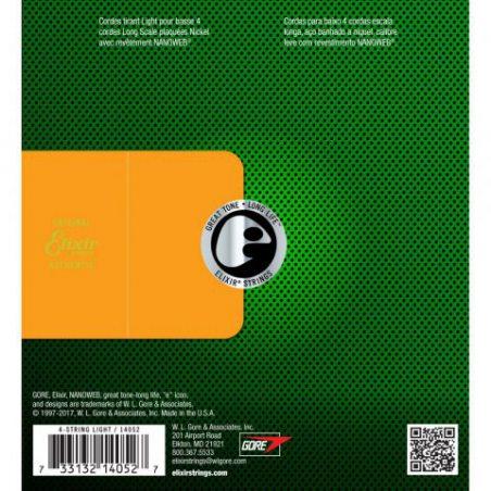 Elixir CEL 14052 Corde pour Guitare Basse nanoweb L 45-100