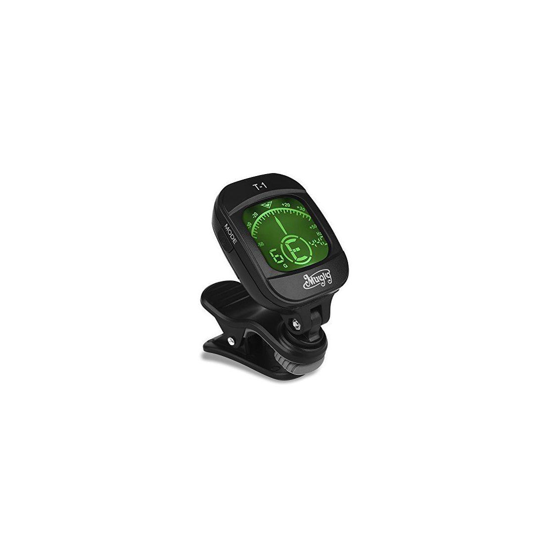 Mugig Accordeur Chromatique à Pince avec Écran LCD 360° Rotation pour Accessoire Guitare Sèche/Electrique Basse Violon Ukulel