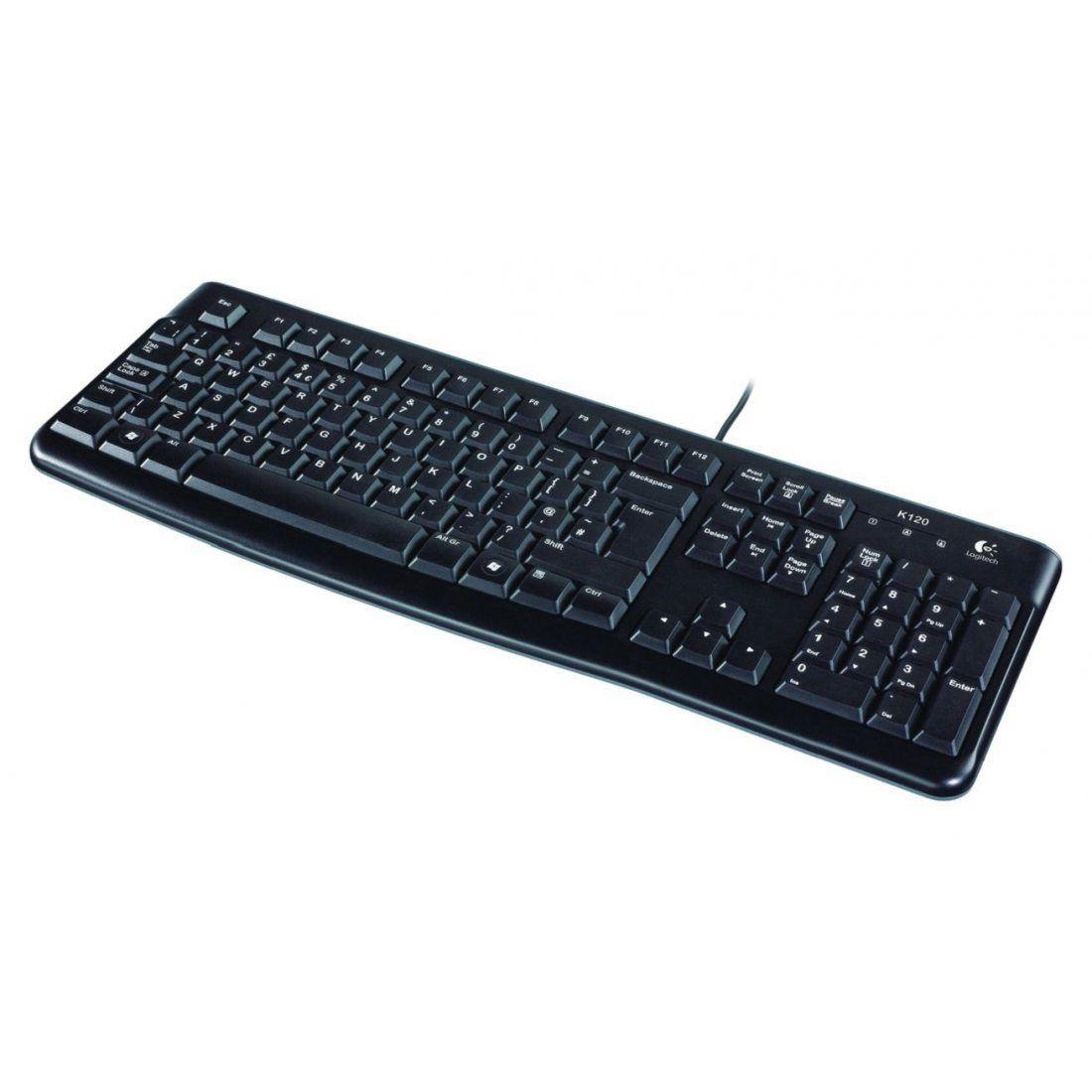 Logitech Keyboard K120 Clavier filaire AZERTY USB Noir