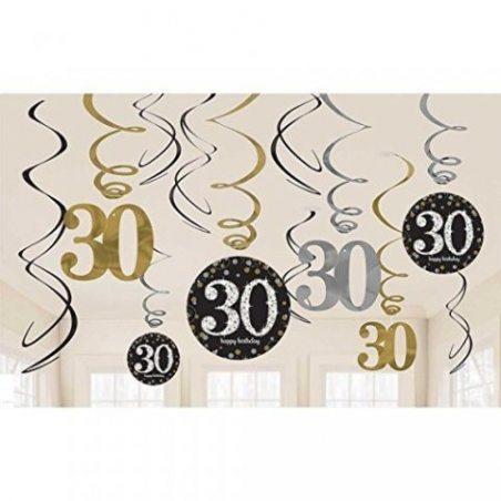 Amscan 670478or Celebration Décoration tourbillon 30Valeur Pack