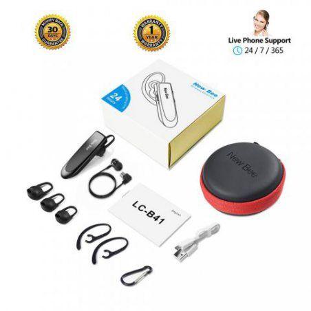 Main Libre Bluetooth Oreillette, New Bee Casque sans Fil Bluetooth avec Microphone 60 Jours en Veille Casque Mains Libres ave