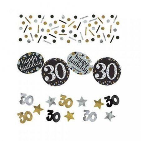 Fête de l'or 360187, 30ème Confetti, de 34g de Amscan.