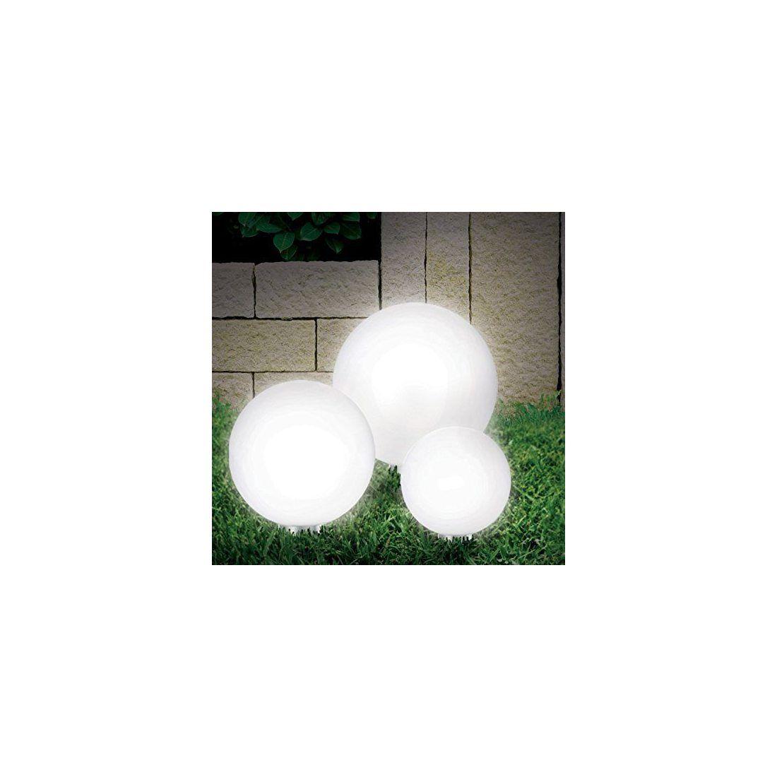 Lampe boule SOLAIRE 30 cm 8 leds - pratik light