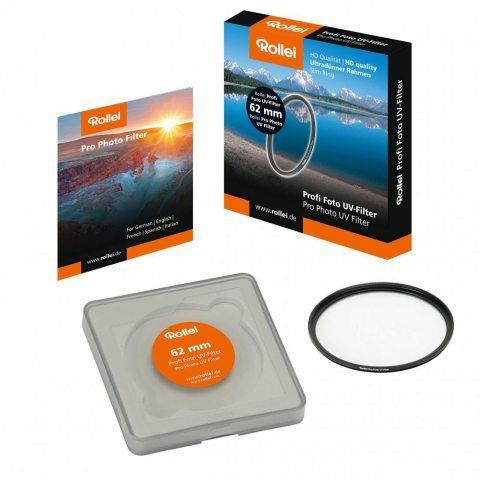Rollei Pro Photo UV Filtre - Filtre pour Bloquer les Rayons Ultraviolets - 62 mm