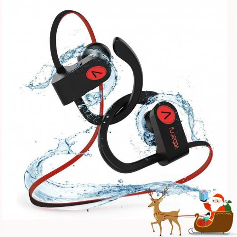 Écouteurs Bluetooth, Voberry Écouteurs Sans Fil Casque Bluetooth Stéréo Richer Bass HiFi Avec Microphone, 8 à 9 Heures D'écou