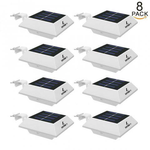 Lampe Solaire Extérieur Jardin 4 LED Easternstar, Éclairage Extérieur Solaire Imperméable, Lumière Solaire Extérieur Sans Fil