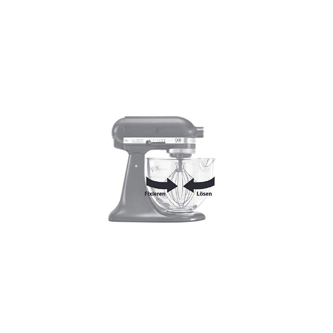 Kitchenaid 5K5GB  Artisan Accessoire Robot Bol Verre
