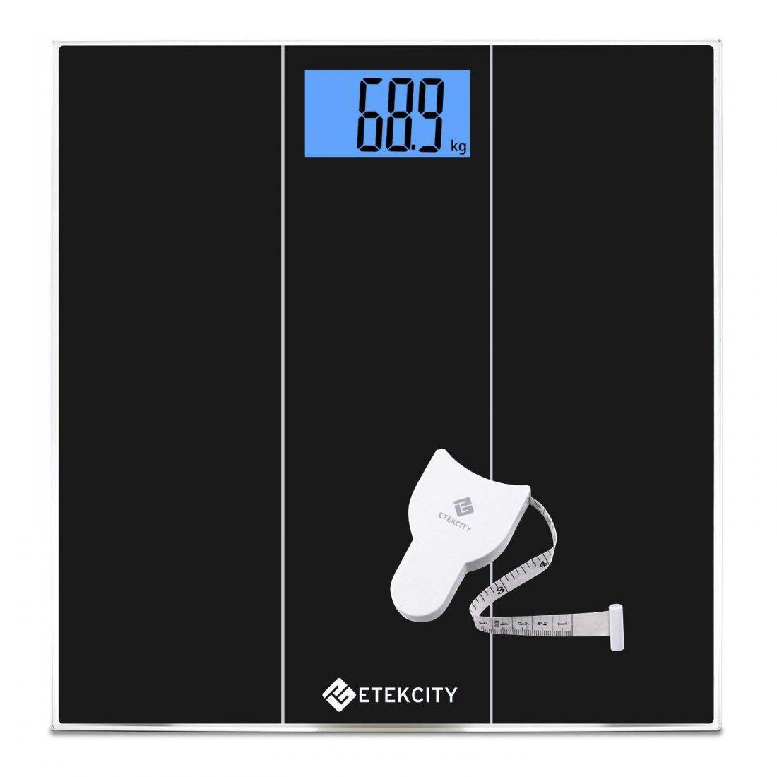 Etekcity Pèse Personne Electronique Balance Pese Personnes Précision, 180kg/400lb/28st, Auto On/Off, Verre Trempée, Grand Ecr