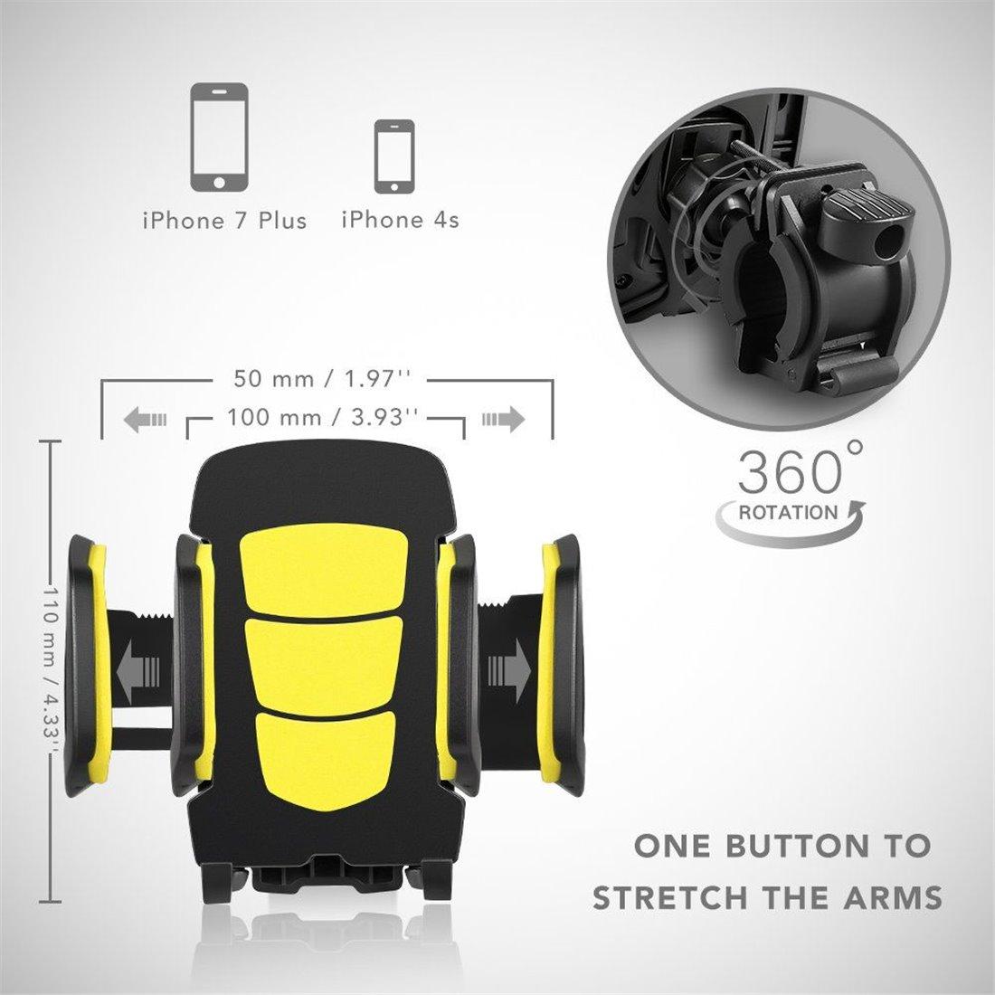 Support téléphone de bicyclette Novete SpiderM Support de téléphone portable pour vélo et moto, compatible avec les téléphone