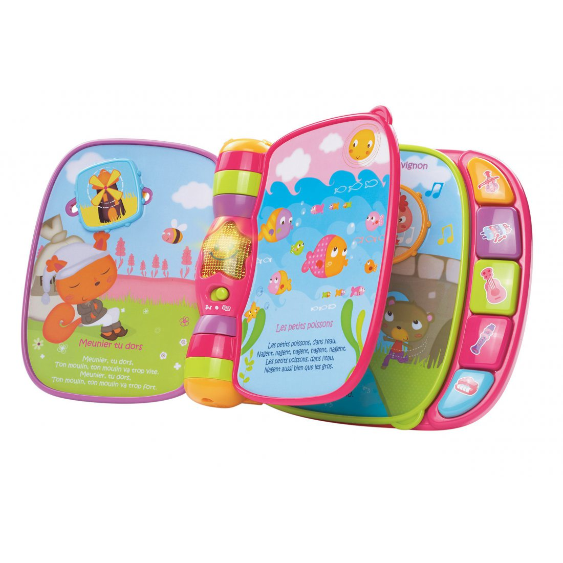 Vtech 166755 Jouet Musical Do Re Mi Super Livre Enchante Rose