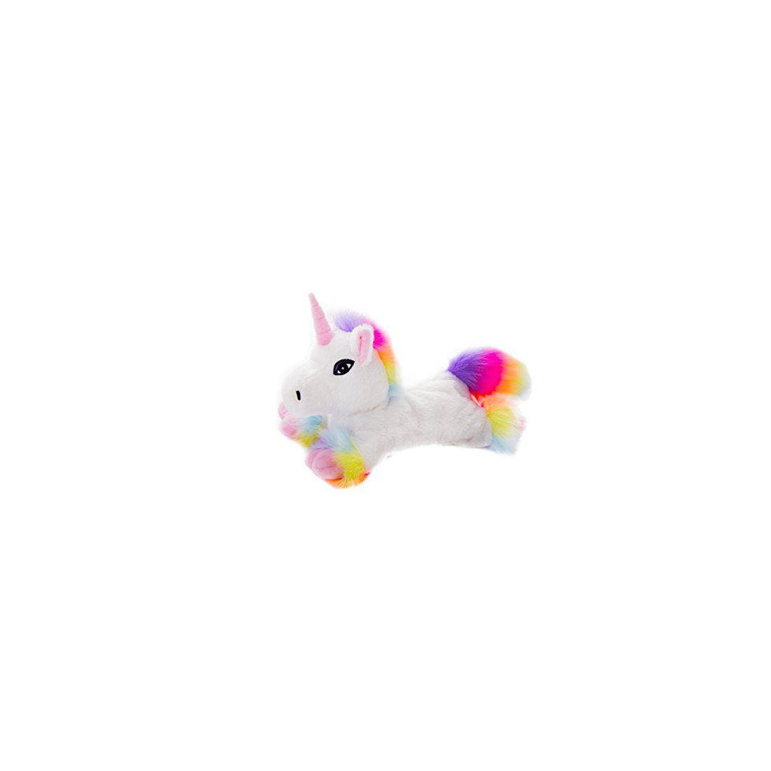 Peluche bouillotte déhoussable Licorne blanche arc en ciel au micro-ondes
