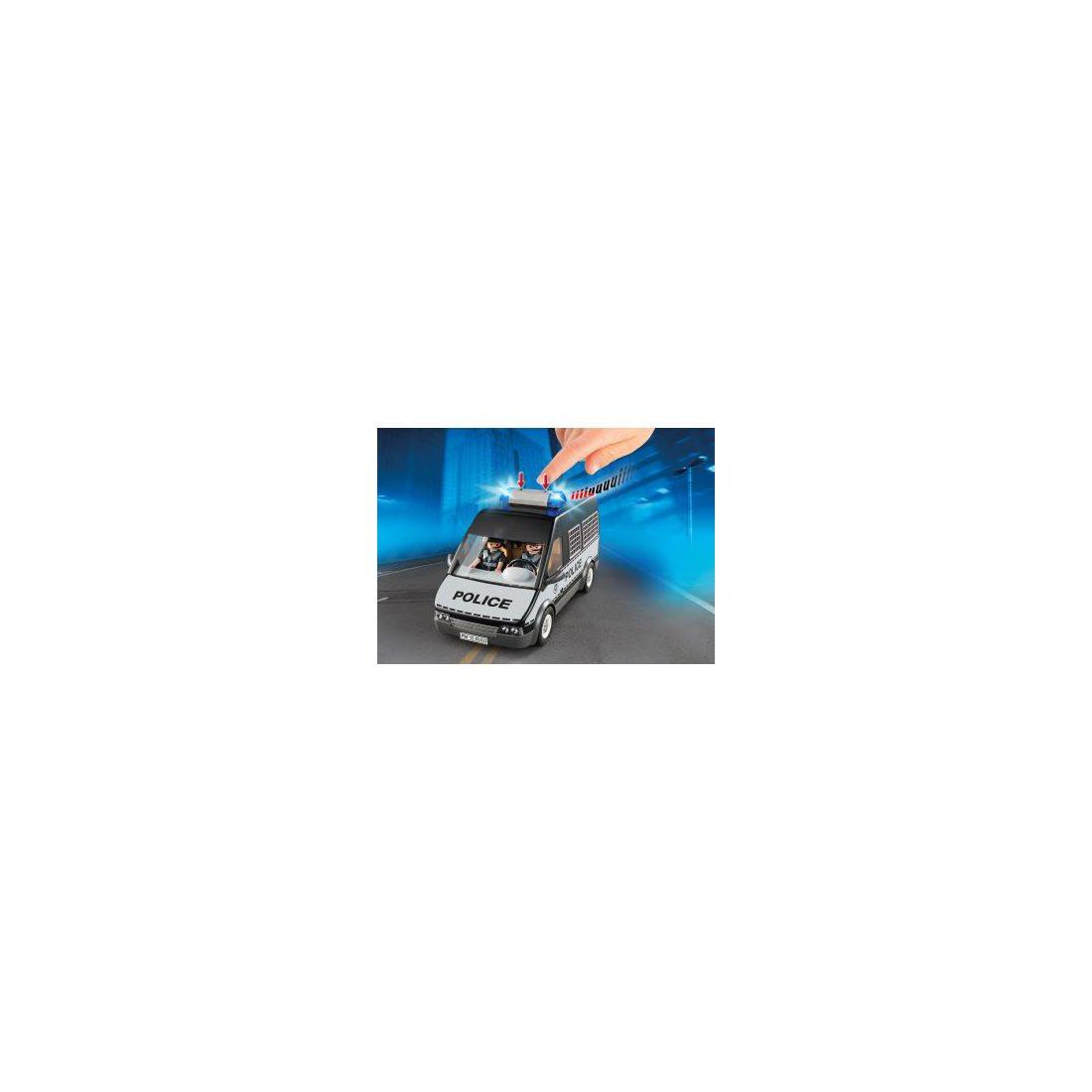 Playmobil City Action 6043 Fourgon de police avec sirène et gyrophare