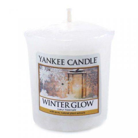 Yankee Candle 1342546E Bougie Votive Lueur Hivernale Combinaison Blanc 4,7 x 4,5 x 5 cm 49 g