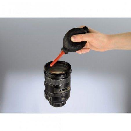 Hama Soufflet pour le Nettoyage des Appareils Photos et des Objectifs, Longueur 16,6 cm, Ex-poussières, Rouge/Noir