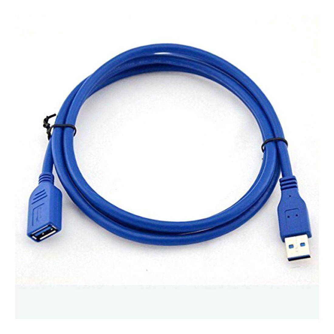 Zheino 0.5M Rallonge Câble USB 3.0 mâle A vers femelle USB 3.0-SuperSpeed A vers AM To AF d'Extension Rallonge câble, Bleu US