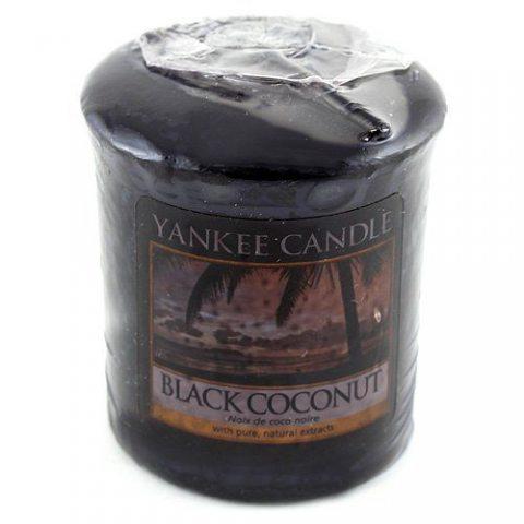 Yankee candle 1254007E Bougie votive Noix de Coco noir 49 g Noir