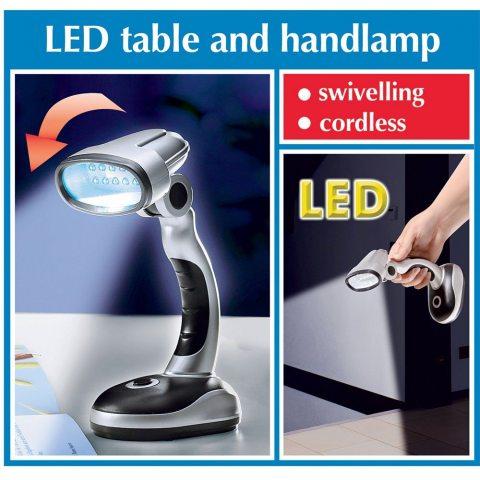 Lampe de poche Ampoule LED 7969500 à piles 125 g noir/argent