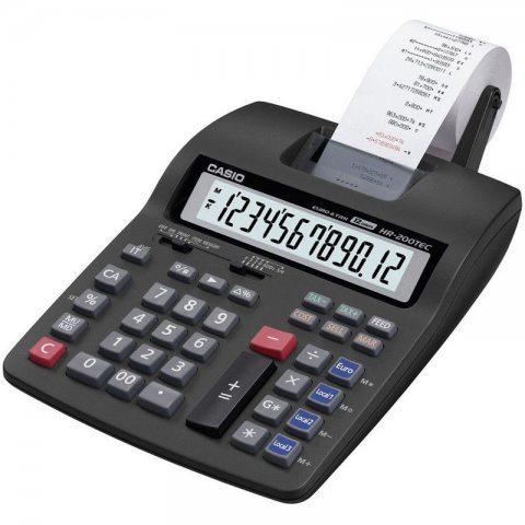 Détails sur  Calculatrice de bureau avec imprimante Casio HR-200TEC