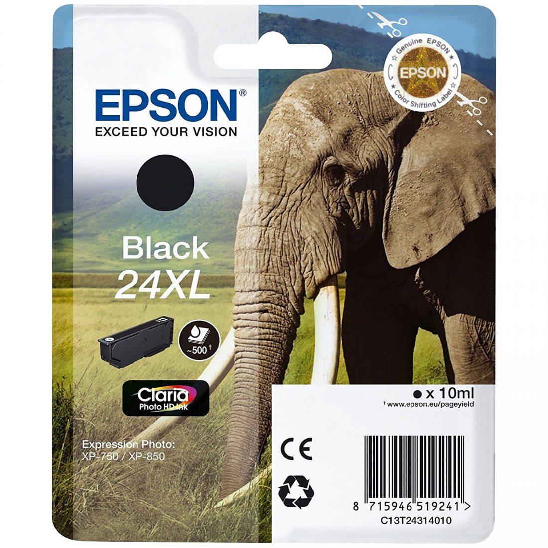 Détails sur  Epson 24XL Noir Cartouche d'encre (C13T24314010) Expression Photo XP-750 850