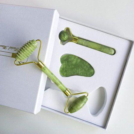 Rouleau massage Jade veritable anti âge MABEAUTY