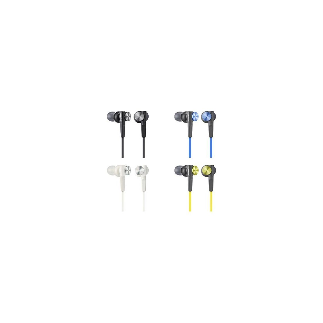 Sony MDR-XB50W Ecouteurs Intra-auriculaires Extra Bass - Blanc