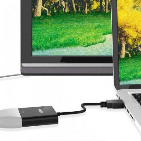 AUKEY Adaptateur HDMI vers VGA 1080P Convertisseur HDMI Mâle à VGA Femelle Compatible avec PC , TV Box , HDTV , Ultrabook , X