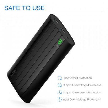 Batterie Externe 20000mAh,Vinsic Chargeurs Portable Batteries Externes,2 Ports USB,5V/2.4A Power Bank pour iPhone, iPad, Sams